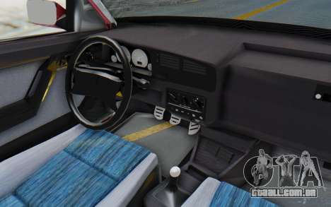 Volkswagen Golf 3 1994 para GTA San Andreas vista interior