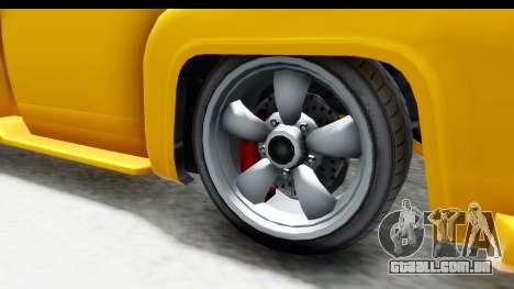 GTA 5 Vapid Slamvan without Hydro para GTA San Andreas vista traseira