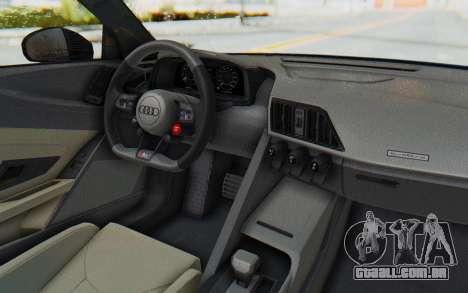 Audi R8 V10 2017 v2.0 para GTA San Andreas vista direita