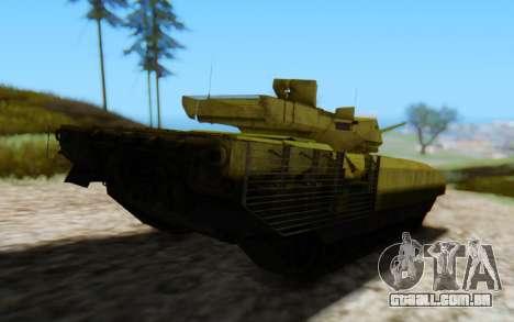 T-14 Armata Green para GTA San Andreas vista traseira