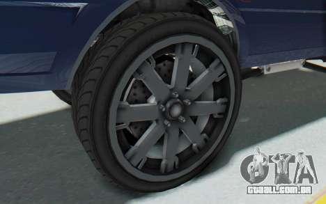 GTA 5 Willard Faction Custom Donk v1 para GTA San Andreas vista traseira