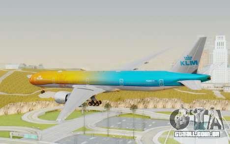 Boeing 777-300ER KLM - Royal Dutch Airlines v1 para GTA San Andreas vista direita