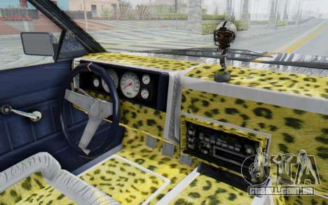 GTA 5 Willard Faction Custom Donk v1 para GTA San Andreas vista interior