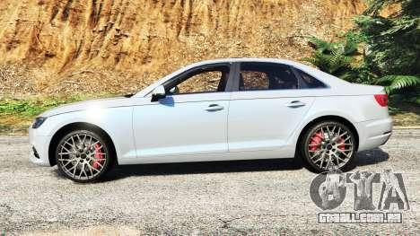 GTA 5 Audi A4 2017 v1.1 vista lateral esquerda