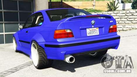 GTA 5 BMW M3 (E36) Street Custom [blue dials] v1.1 traseira vista lateral esquerda