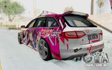 Audi S4 Avant Yurippe Angel Beats Itasha para GTA San Andreas esquerda vista