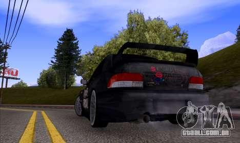 Subaru impreza 22B (SUICIDE SQUAD) para GTA San Andreas vista direita