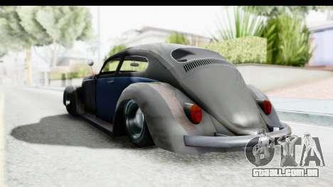 Volkswagen Beetle 1963 Hotrod para GTA San Andreas vista direita