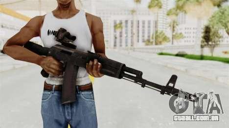 AK-74M v4 para GTA San Andreas terceira tela