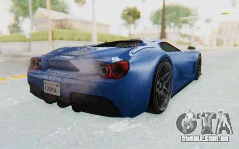 GTA 5 Vapid FMJ para GTA San Andreas traseira esquerda vista
