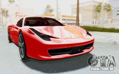 Ferrari 458 Italia F142 2010 para GTA San Andreas