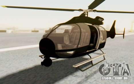 GTA 5 Maibatsu Frogger FIB para GTA San Andreas vista direita