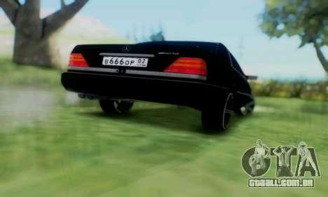 Mercedes-Benz MB W140 1999 para GTA San Andreas vista interior
