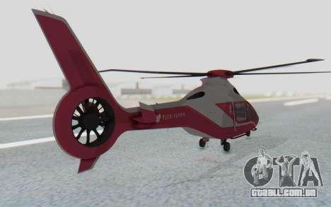 GTA 5 Buckingham Volatus v2 IVF para GTA San Andreas traseira esquerda vista