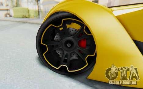GTA 5 Grotti Prototipo v2 IVF para GTA San Andreas vista interior