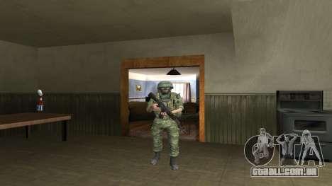 Corpo De Fuzileiros Navais Lutador para GTA San Andreas sétima tela