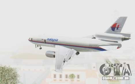 DC-10-30 Malaysia Airlines (Old Livery) para GTA San Andreas vista direita