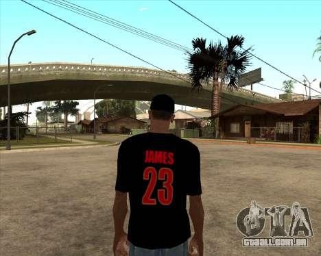 King James T-Shirt para GTA San Andreas segunda tela