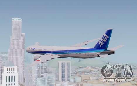 Boeing 777-300ER ZK-OKO - Smaug Livery para GTA San Andreas esquerda vista