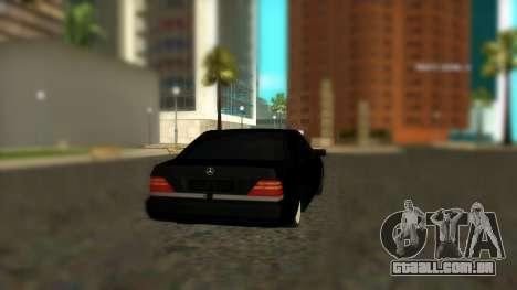 Mercedes-Benz S600 W140 AMG para GTA San Andreas esquerda vista