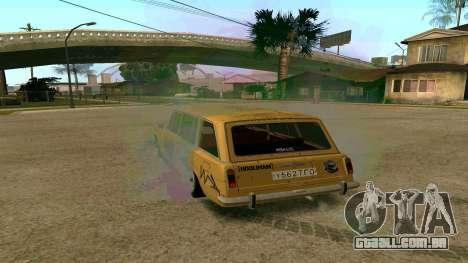 BK VAZ 2102 v1.0 Deriva para GTA San Andreas esquerda vista