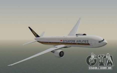Boeing 777-300ER Singapore Airlines v1 para GTA San Andreas traseira esquerda vista