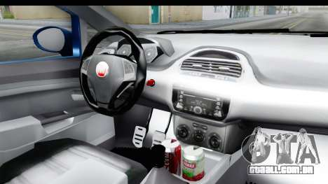 Fiat Linea 2014 Wheels para GTA San Andreas vista interior