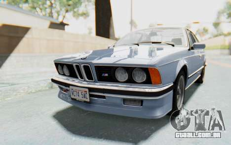 BMW M635 CSi (E24) 1984 IVF PJ1 para GTA San Andreas vista direita
