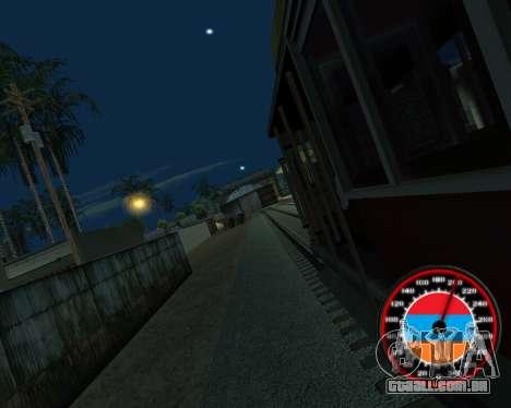 O velocímetro no estilo do armênio bandeira para GTA San Andreas sexta tela