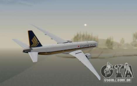 Boeing 777-300ER Singapore Airlines v1 para GTA San Andreas vista direita