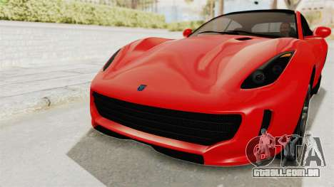 GTA 5 Grotti Bestia GTS v2 IVF para GTA San Andreas vista superior