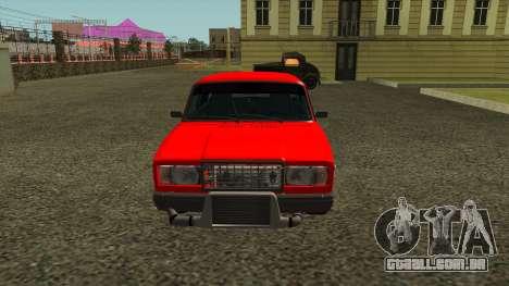 2107 para GTA San Andreas esquerda vista