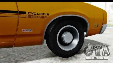 Mercury Cyclone Spoiler 1970 IVF para GTA San Andreas vista traseira