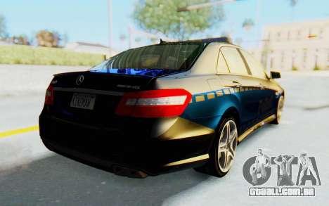 Mercedes-Benz E63 German Police Blue para GTA San Andreas traseira esquerda vista