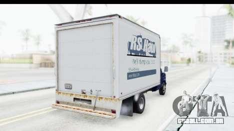 Ford E-350 Cube Truck IVF para GTA San Andreas vista direita
