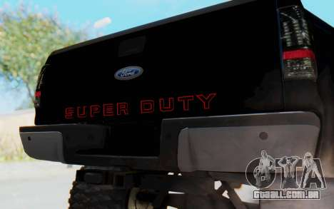Ford Super Duty Off-Road para GTA San Andreas vista traseira