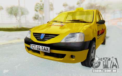 Dacia Logan Taxi para GTA San Andreas vista direita