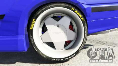 GTA 5 BMW M3 (E36) Street Custom [blue dials] v1.1 traseira direita vista lateral