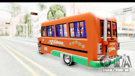 Dodge D600 v2 Bus para GTA San Andreas esquerda vista