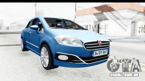 Fiat Linea 2014 Wheels para GTA San Andreas traseira esquerda vista