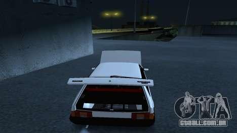 VAZ 2108 Postura para GTA San Andreas traseira esquerda vista