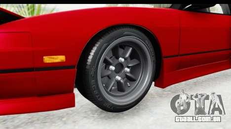 Nissan 240SX 1989 v1 para GTA San Andreas vista traseira