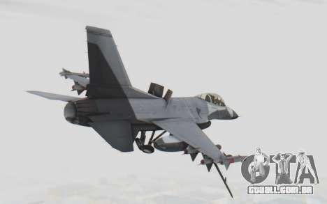 F-16 with Russian Missile para GTA San Andreas vista direita