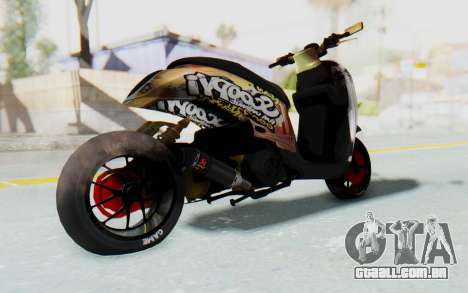 Honda Scoopyi Modified para GTA San Andreas vista direita