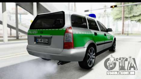 Opel Astra G Variant Polizei Bayern para GTA San Andreas vista direita