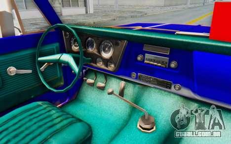 Chevrolet C10 1970 para GTA San Andreas vista interior