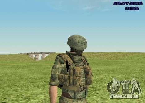 Corpo De Fuzileiros Navais Lutador para GTA San Andreas quinto tela