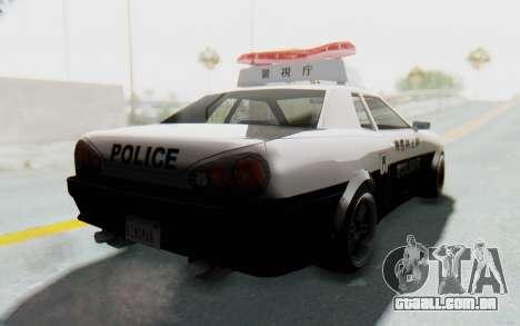 Elegy Japanese Police para GTA San Andreas vista direita