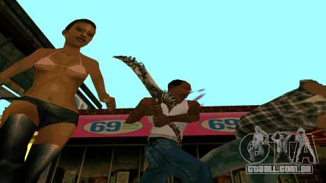 Prince Of Persia Water Sword para GTA San Andreas por diante tela