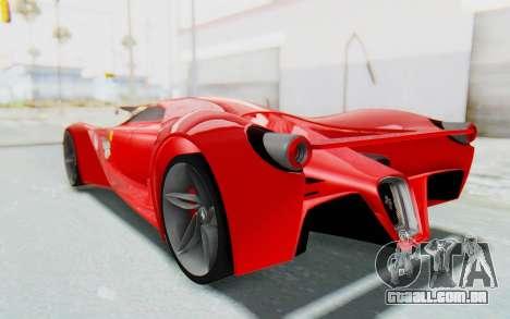 Ferrari F80 Concept 2015 Beta para GTA San Andreas esquerda vista